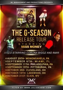 The G-SEASON Relase Tour Flyer